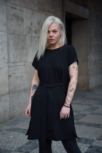 Černé mikinové šaty s krátkým rukávem, Pavel Berky