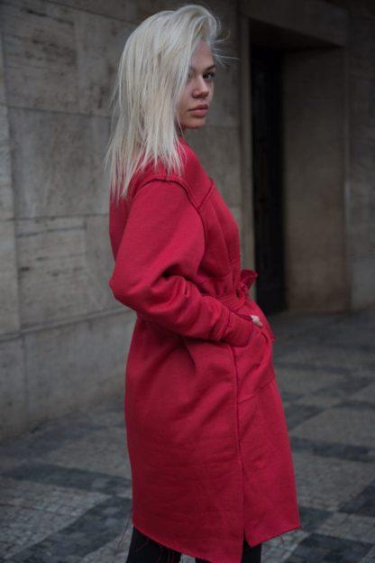 Mikinové šaty s dlouhým rukávem v červené, Pavel Berky