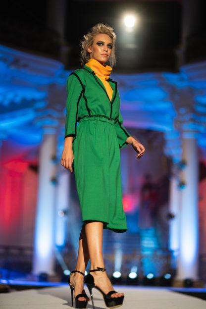 Pavel Berky Zelené bavlněné šaty