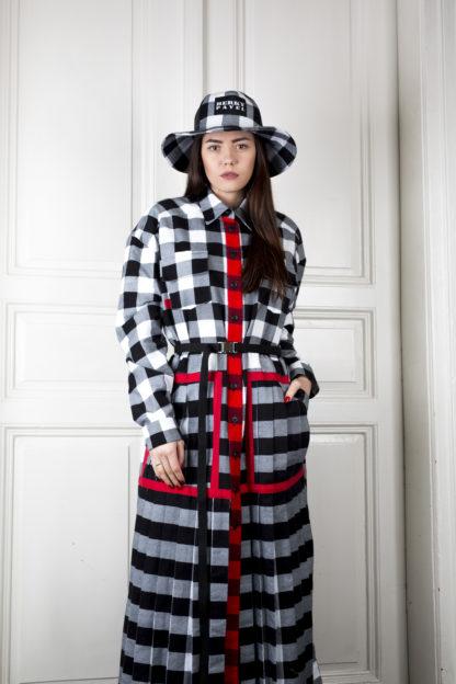 Pavel Berky kostkované flanelové šaty