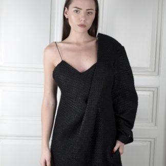 Pavel Berky Asymetrické černé šaty
